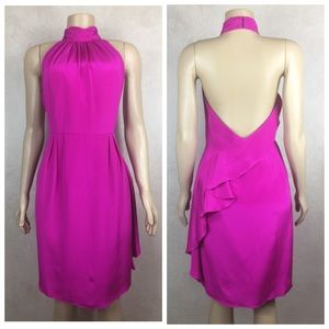 NWT Carmen Marc Valvo Pink Silk Dress
